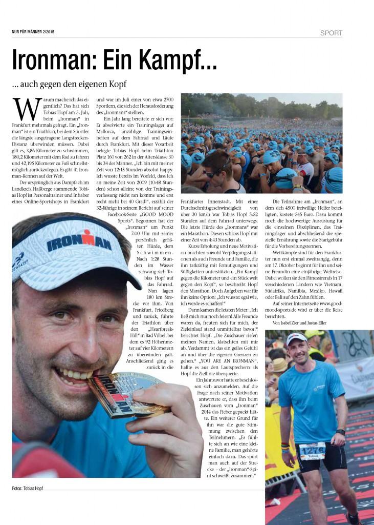 Tagblatt Artikel Ironman 2015
