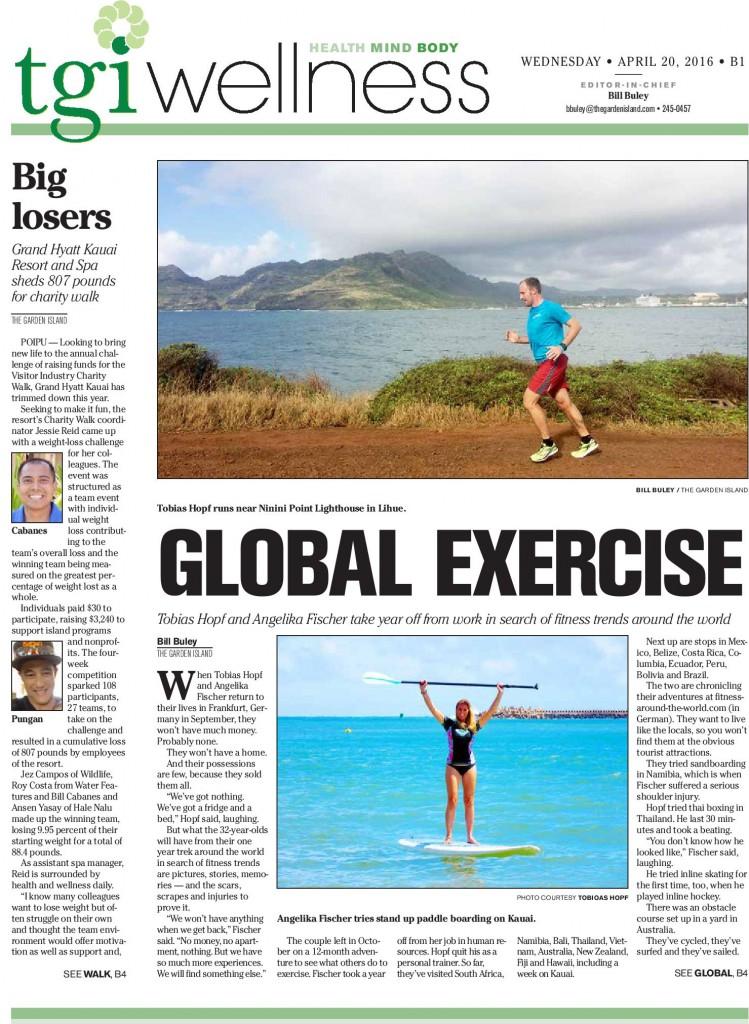 Zeitungsbericht Hawaii Running