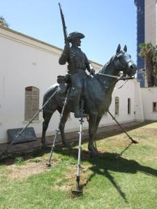 Reiter der Deutschen Schutztruppe in Namibia