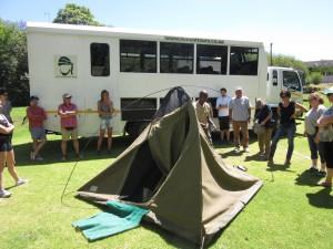Nomad Tour unser alter Truck und unsere Zelte