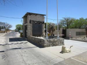 Etosha Nationalpark Namibia Eingang