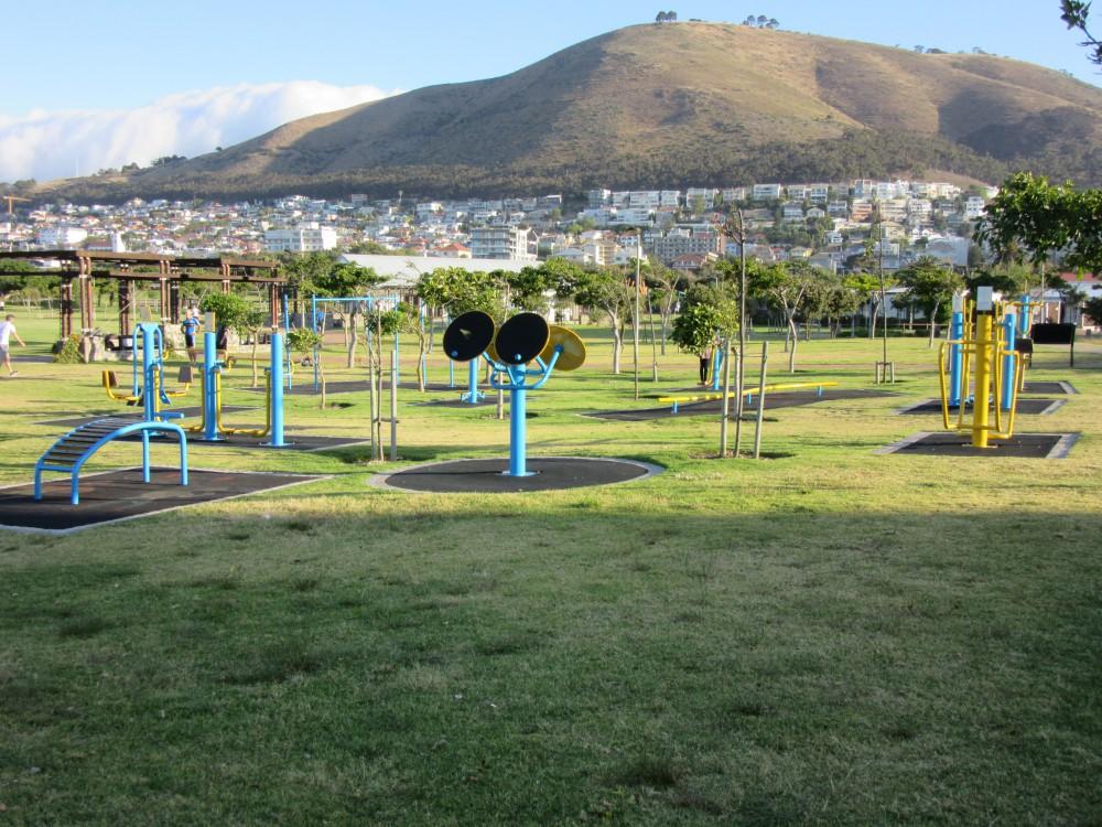 Raus an die frische Luft / Draußen Training Studio Kapstadt
