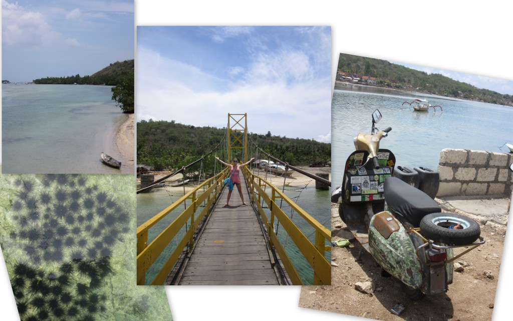 Crossing-the-bridge-Nusa-Cenigan
