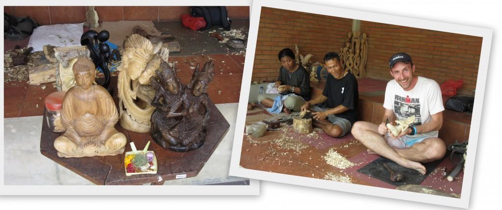 Holzkunst-Bali