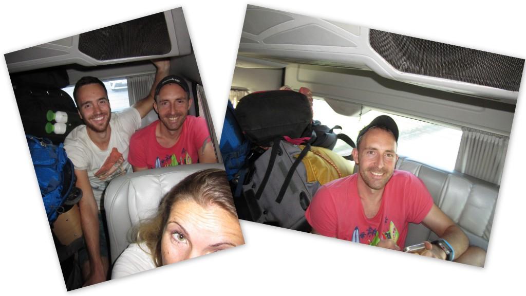 Die Fahrt im Minivan