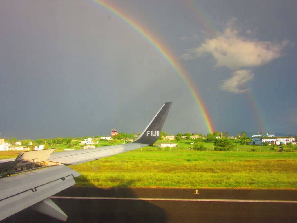 Rainbow on Fiji Airport