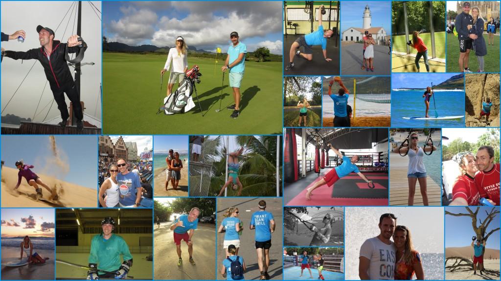 Sportkollage Angelika und Tobias